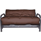 more details on Mexico Futon Sofa Bed with Mattress - Chocolate.
