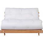 more details on Tosa Pine Futon Sofa Bed with Mattress - Natural.
