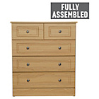 more details on Collection Stratford 3+2 Drawer Chest - Oak Effect.
