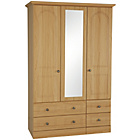 more details on Collection Stratford 3 Dr 4 Drw Mirror Wardrobe -Oak Effect.
