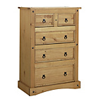 more details on Collection Puerto Rico 3+2 Drawer Chest - Pine.