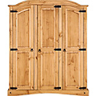 more details on Puerto Rico 3 Door Wardrobe - Pine.