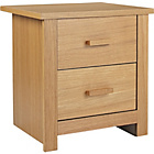 more details on Winchester 2 Drawer Bedside Chest - Oak Veneer.