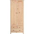 more details on Scandinavia 2 Door 3 Drawer Wardrobe - Pine.
