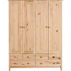 more details on Scandinavia 4 Door 6 Drawer Wardrobe - Pine.