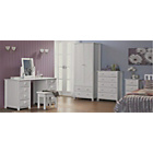 more details on Scandinavia Double Bedroom Furniture Package - White.