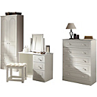 more details on Stratford Assembled Dressing Table & Stool - White.
