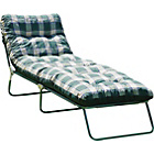 more details on Multi Position Sun Lounger with Cushion - Green Check.