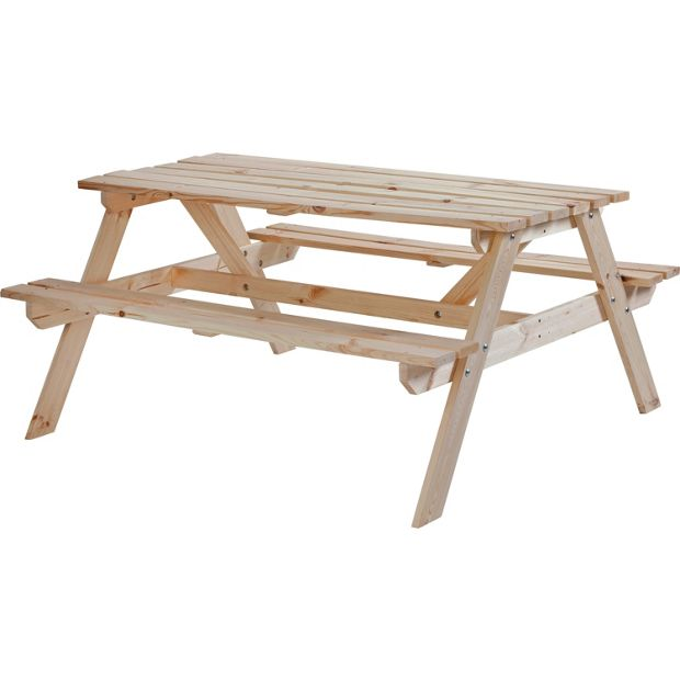 Buy Natural Pine Picnic Bench At Argos Co Uk Your Online