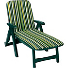 more details on Garden Sun Lounger Cushion - Green.