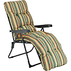 more details on Multi Position Sun Lounger with Cushion - Striped.