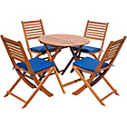 more details on Henley 2 Pack Garden Furniture Cushion Pads - Navy.