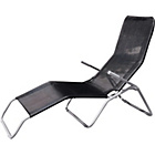more details on Malibu Rolling Sun Lounger - Black.
