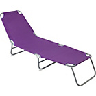 more details on Folding Sunbed - Purple.