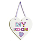 more details on Arthouse Retro Hearts Hanging Wooden Plaque.