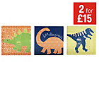 more details on Arthouse Dinosaurs Canvas - Set of 3.