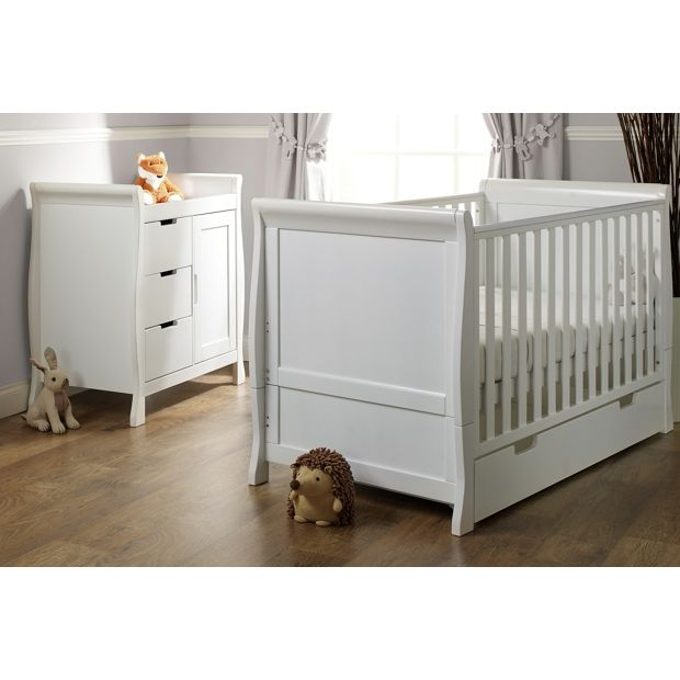 buy obaby stamford 2 piece room set white at. Black Bedroom Furniture Sets. Home Design Ideas