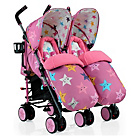 more details on Cosatto Supa Dupa Double Stroller - Happy Stars.