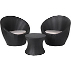 more details on 2 Seater Rattan Effect Egg Patio Furniture Set - Black.