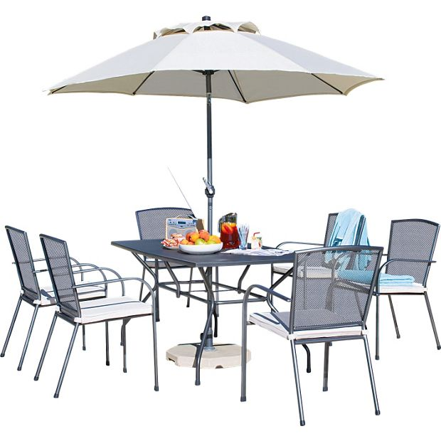 Furniture Clearance Miami: Buy Miami 6 Seater Mesh Patio Furniture Set At Argos.co.uk