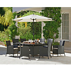 more details on Bali 8 Seater Rattan Effect Patio Furniture Set - Brown.