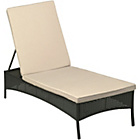 more details on Rattan Sun Lounger with Cushion - Black.