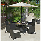 more details on Bali 6 Seater Rattan Effect Patio Furniture Set - Brown.