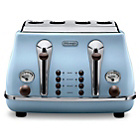 De'Longhi Vintage Icona Four Slice Toaster - Blue