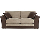 more details on HOME Harley 2 Seater Fabric Sofa Bed - Natural.