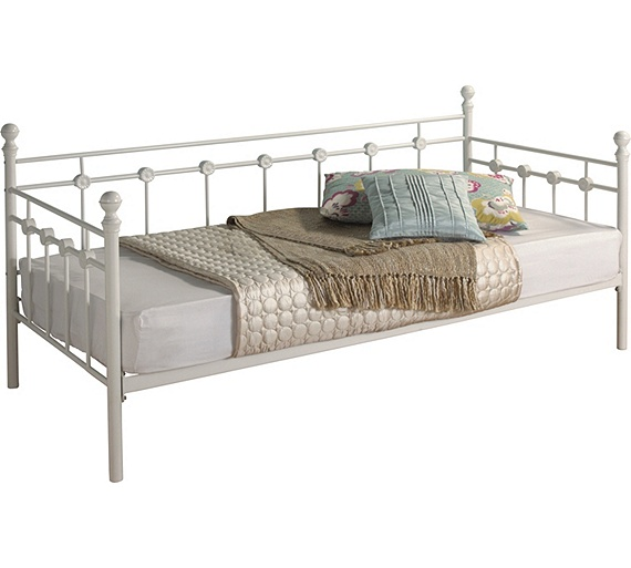 Buy Collection Abigail Metal Single Daybed Frame White