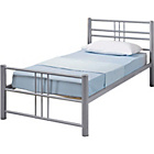 more details on Atlas Metal Single Bed Frame - Silver.