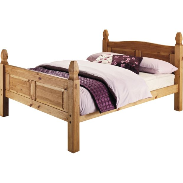 Buy Collection Puerto Rico Double Bed Frame Light Pine At