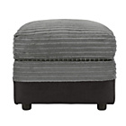 more details on HOME Harley Fabric Storage Footstool - Charcoal.