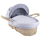 more details on Clair de Lune Grey Waffle Palm Moses Basket & Folding Stand.