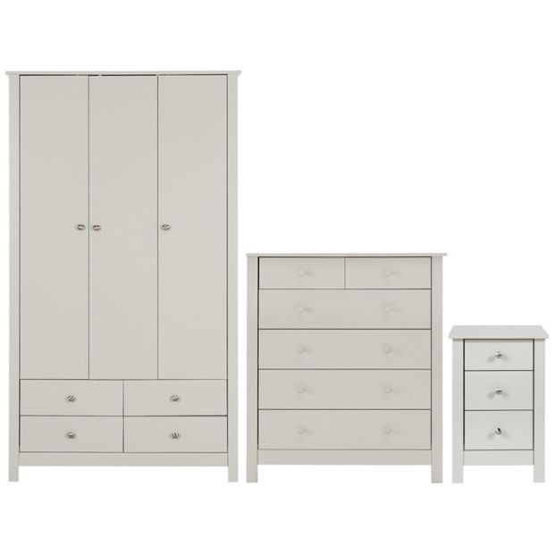 Buy Collection Osaka 3 Pc Bedroom Furniture Package Soft Grey At Your Online