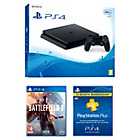 more details on PS4 Slim 500GB Console, Battlefield 1, 1 Year PSN Sub Bundle