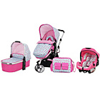 more details on Obaby Chase 2 in 1 Travel System - Cottage Rose.