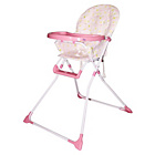 more details on Bebe Fold Ez 123 Folding Highchair - Pink Bubbles.