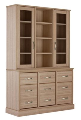Buy Collection Durham Large Display Unit Oak Effect At Argos Co Uk Your Online Shop For