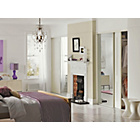 more details on White Decor Moulded Sliding Wardrobe Door - 36 Inch.
