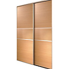 more details on Oak Fineline Sliding Wardrobe Door Aura Kit - 2x24 Inch.