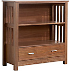 more details on Ashford Low Bookcase - Walnut.