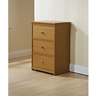 more details on Fuse 3 Drawer Media Storage Unit - Oak.