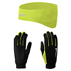 more details on Nike Mens Dri Fit Running Gloves and Headband - Small.