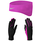 more details on Nike Womens Dri Fit Running Gloves and Headband - Large.