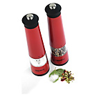 more details on Progress Set of 2 Tall Electric Salt and Pepper Mills - Red.