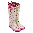 more details on Emma Bridgewater Women's Tall Heart Wellies - Size 3.