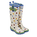 more details on Emma Bridgewater Women's Tall Spot Wellies - Size 8.