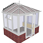 more details on Edwardian Dwarf Wall Small Conservatory - White.