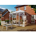 more details on Edwardian Full Height Medium Conservatory - White.